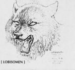 Esboço inicial para os lobisomens